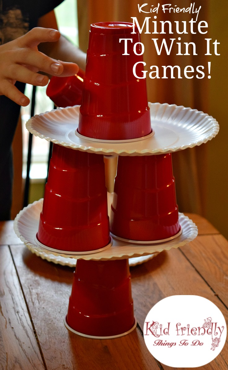 Kid Friendly Easy Minute To Win It Games for Your Party - Simple and fun games for your holiday, Christmas, school, or anytime party! www.kidfriendlythingstodo.com