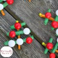 Simple and Rustic Peppermint and Chocolate Covered Pretzel Christmas Tree Treats! These are adorable and perfect for your Christmas party food addition! www.kidfriendlythingstodo.com