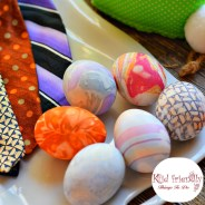 How to Dye Easter Eggs with Old Neck Ties