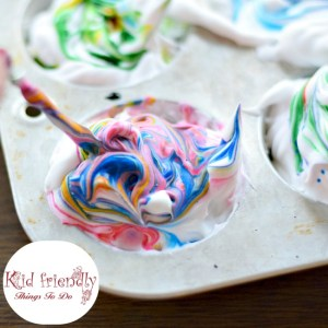 How To Dye Easter Eggs With Shaving Cream (or Whipped Cream) - What a fun way to dye Easter Eggs with kids. Love the different swirl patterns - www.kidfriendlythingstodo.com