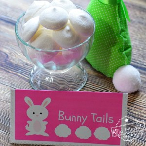 Free Printable and Lemon Meringue Bunny Tail Cookie Recipe for a fun Easter, spring or summer treat! www.kidfriendlythingstodo.com fun food idea for kids