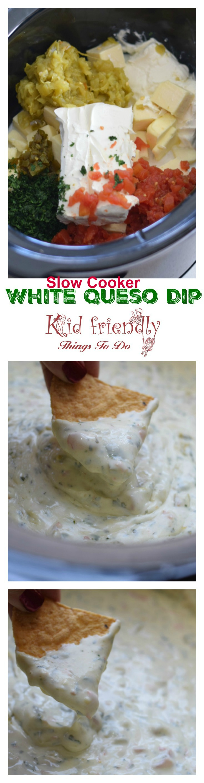 Easy Slow Cooker White Queso Blanco Dip - www.kidfriendlythingstodo.com