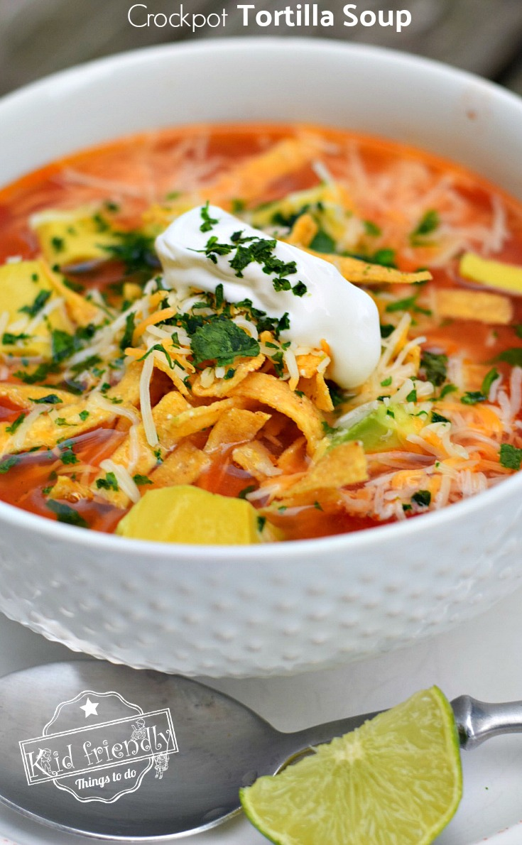 Easy and healthy slow cooker chicken tortilla soup recipe for Easy healthy chicken crockpot recipes