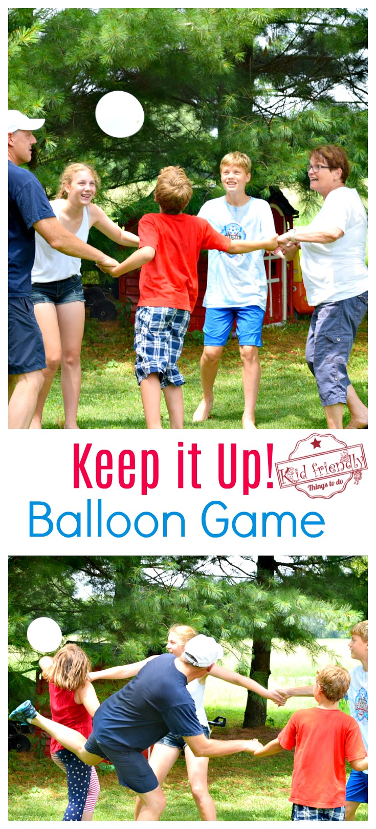 Just Keep it Up - A Fun Balloon Game for Kids, Teens and Adults to Play - perfect for indoor or outdoor. Great party game - www.kidfriendlythingstodo.com