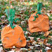 Easy Paper Bag Pumpkin Craft for Kids to Make
