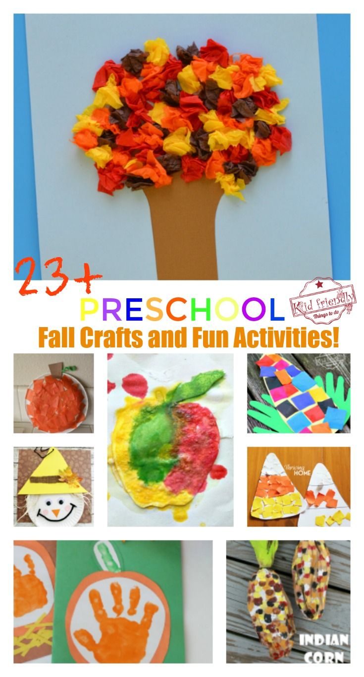 Over 23 Adorable And Easy Fall Crafts That Preschoolers