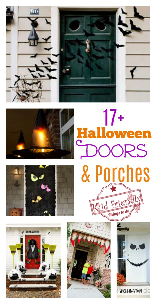Over 17 Super Fun Halloween Themed Front Door and Porch Ideas - Fun DIY Decorations for & Over 17 Super Fun Halloween Themed Front Door and Porch Ideas
