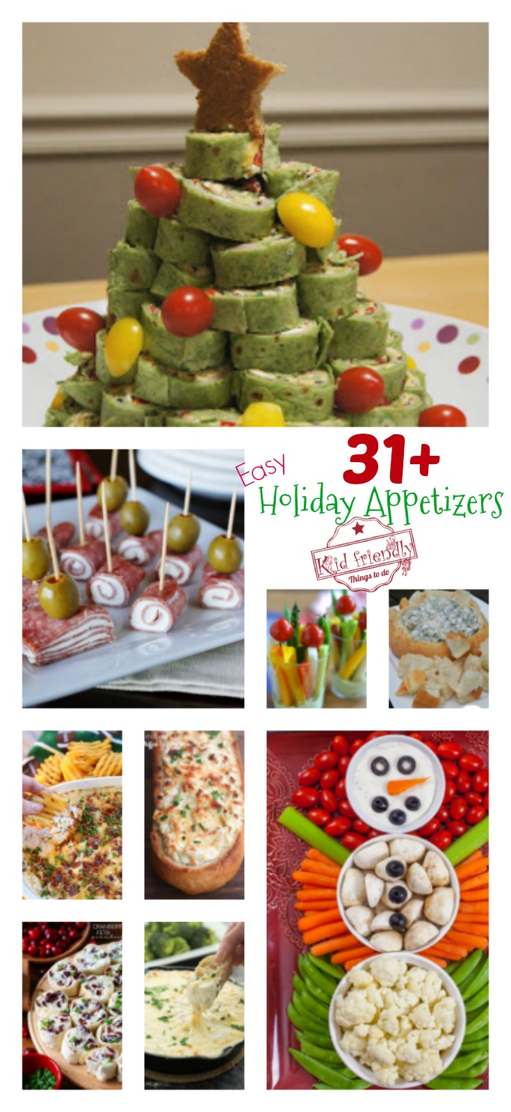 Over 31 Easy Holiday Appetizers to Make for Thanksgiving, Christmas, New Year's Eve, Super Bowl, etc... You get the idea. We need simple, crowd pleasing, make ahead, and delicious appetizers to feed the masses! Come on in and check out Over 31 Easy Holiday Appetizers to Make for Christmas, New Year's Eve and All of Your Parties Simple and Delicious!... www.kidfriendlythingstodo.com