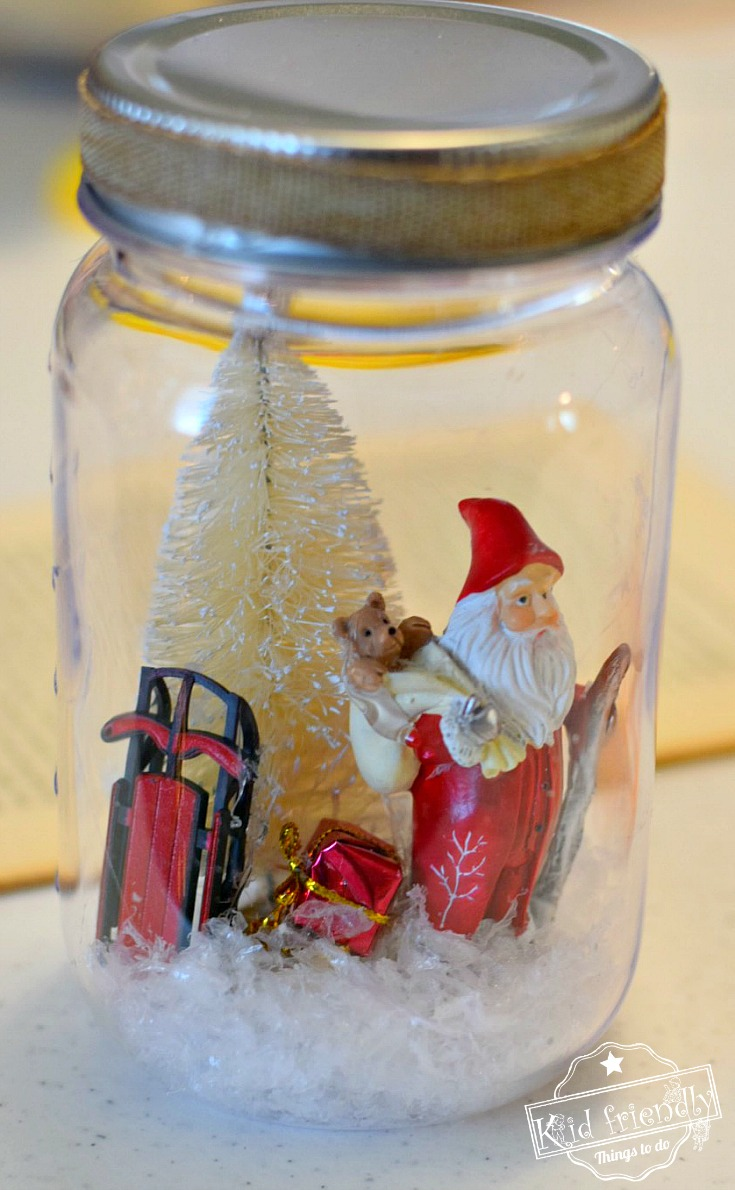 Diy Mason Jar Snow Globes For A Winter Or Christmas Craft