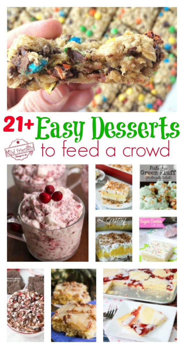 Over 21 Easy Desserts that Will Feed a Crowd - Slab Pies, Sheet Cakes, Bars, Jello Salads and More!