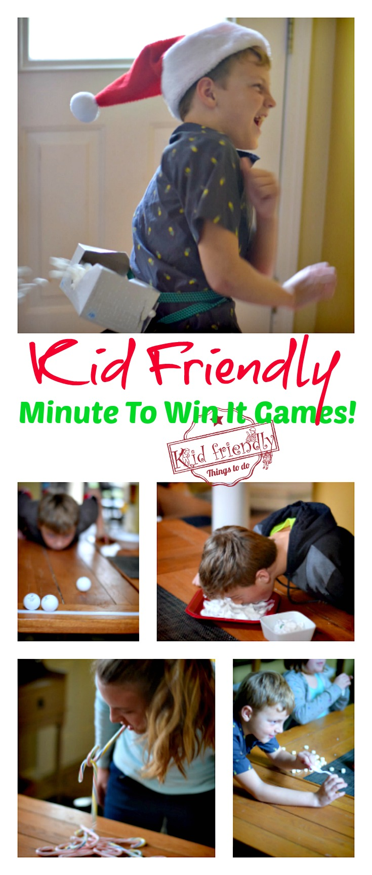 Awesome Minute To Win It Games that are Great for Kids, Teens and Adults - For Your Family Parties! - Perfect for Holiday parties, like Christmas, New Years, Thanksgiving, Halloween and even Summer Parties - www.kidfriendlythingstodo.com