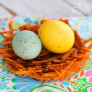 Spaghetti Noodle Spring Bird Nest Craft for Kids To Make