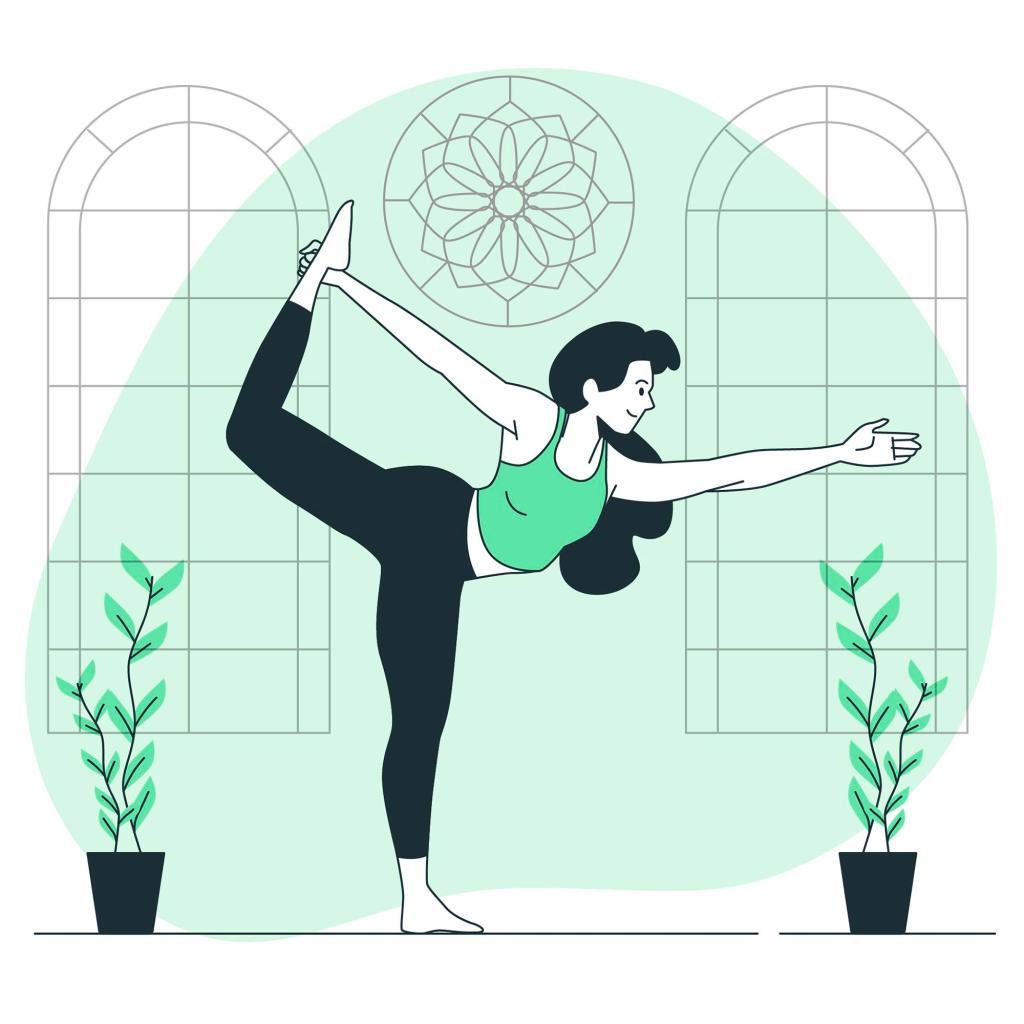 Yoga Pose Green Background