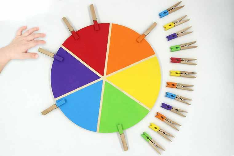 babysitting le mercredi : jeu montessori pour apprendre aux plus jeune de différencier les nuances de couleurs