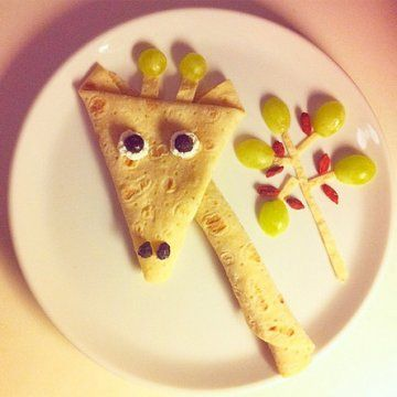 crêpes en forme de giraffe