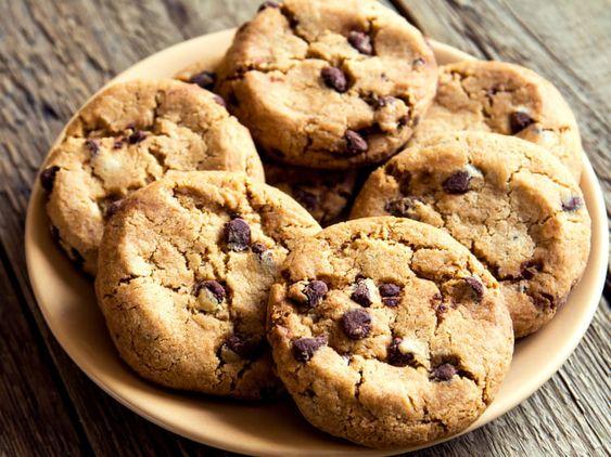 Recette cookies  avec des pépites de chocolat