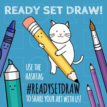 Use the hashtag #ReadySetDraw