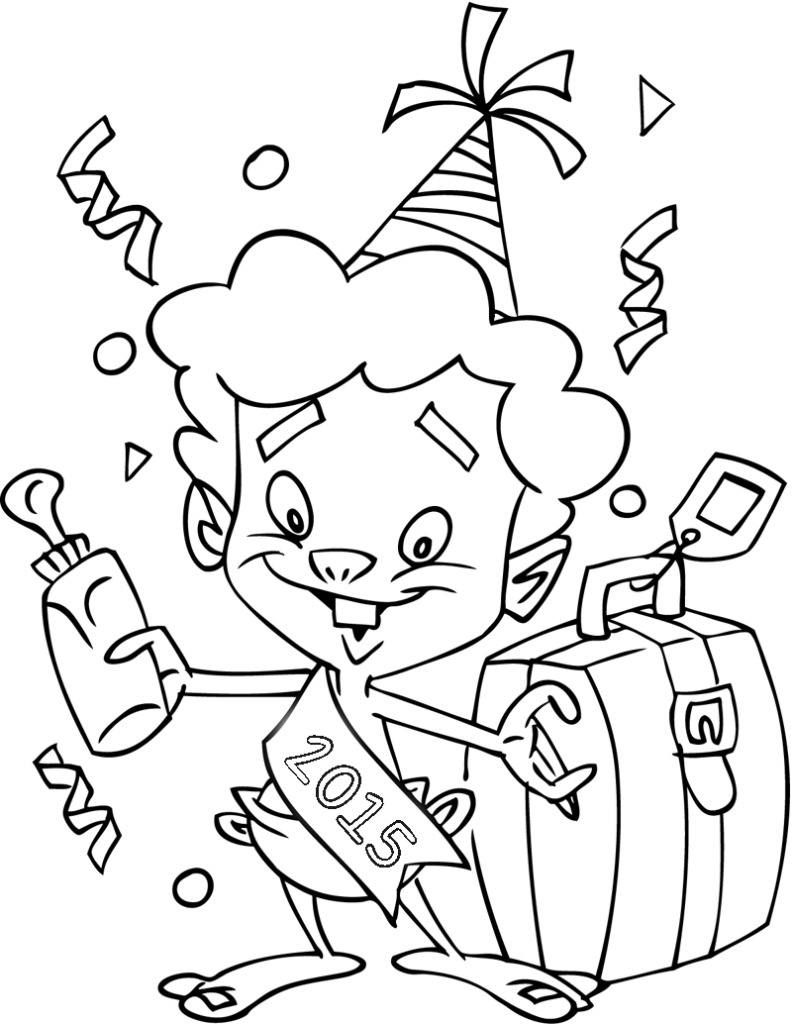 New year coloring pages printable for kids