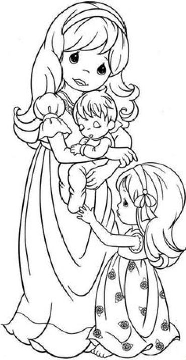 Precious moments coloring in page printable