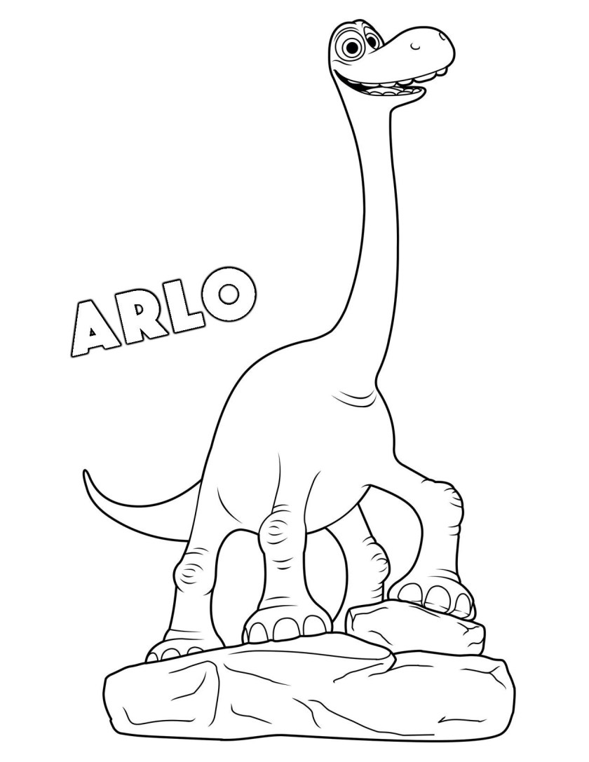 Printable the good dinosaur arlo coloring pages for kids