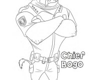 Printable chief bogo zootopia coloring pages