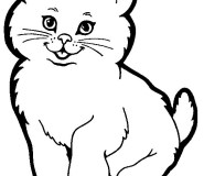 Cat printable coloring pages