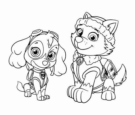 Paw Patrol Printable Coloring In Pages - Kids Coloring Pages