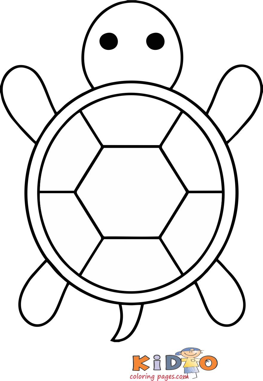 Sea turtle coloring in pages for kids - Kids Coloring Pages