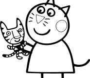 Candy Cat coloring pages for kids printable