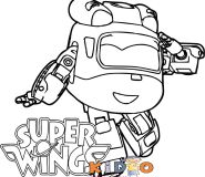 Free Super Wings Dizzy coloring page printable