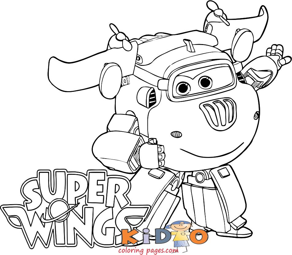 Free Super Wings Donnie coloring page