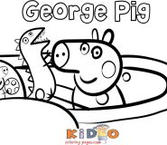 George Pig pages to color for kids