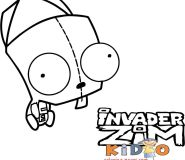 gir invader zim drawing pages to color