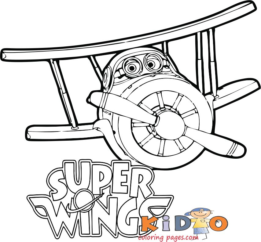 super wings grand albert coloring pages for kids