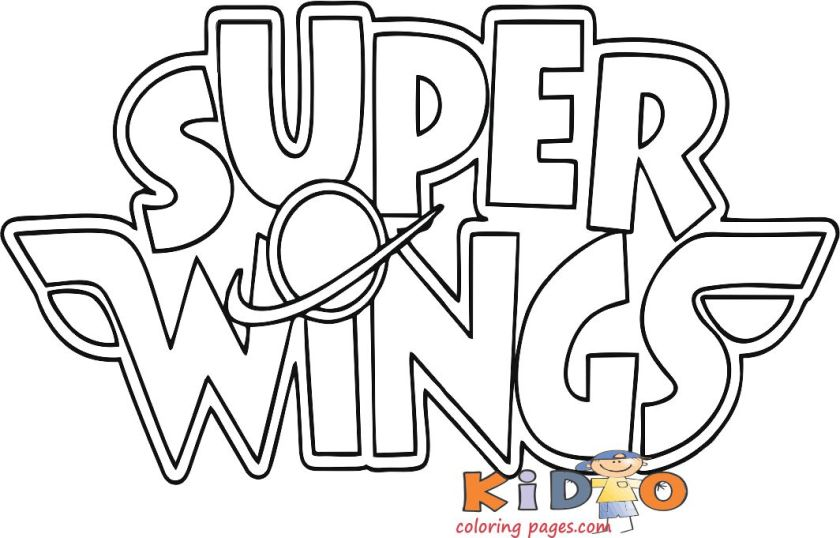super wings logo printable coloring pages