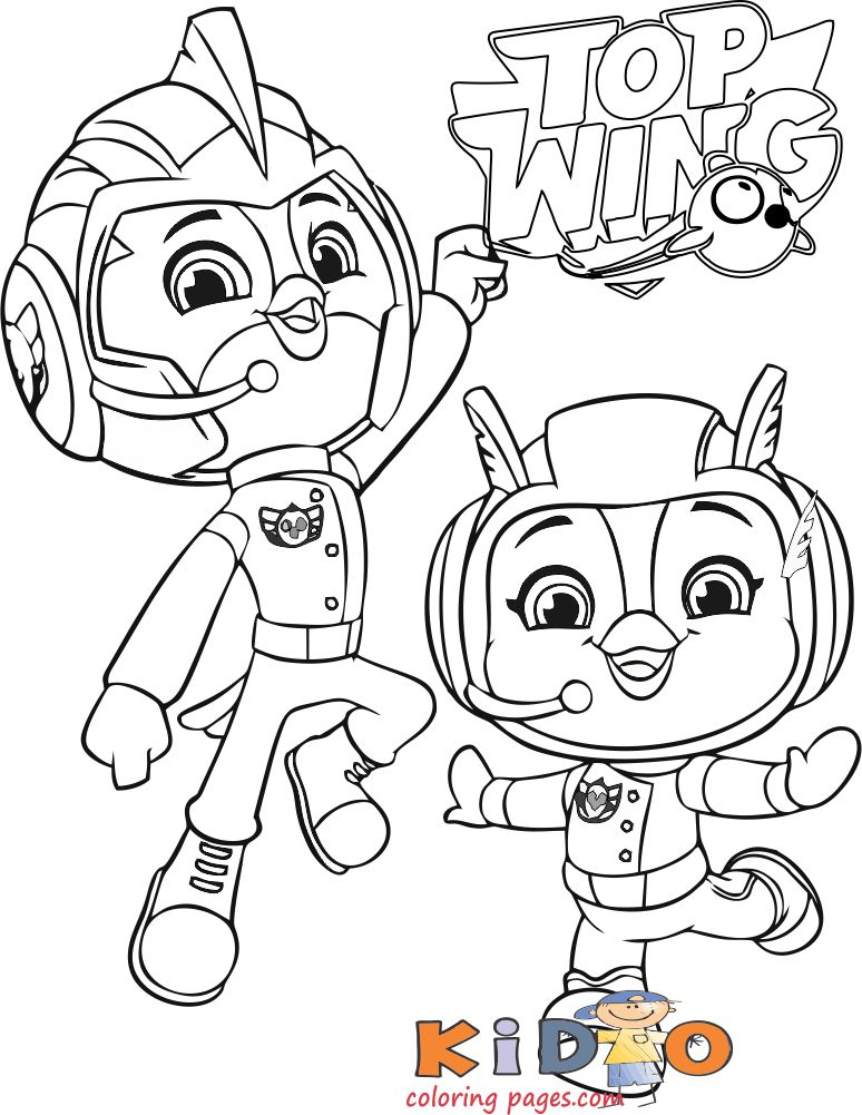 Top Wing Rod Penny Coloring Pages