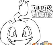 plants vs zombies 2 pumpkin coloring sheets