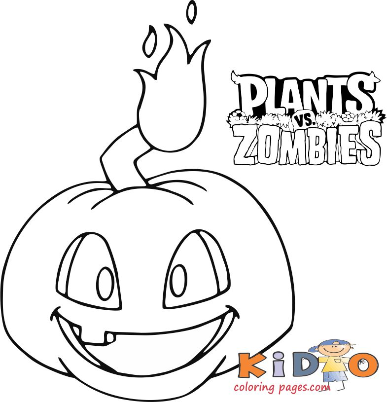 plants vs zombies 2 pumpkin coloring sheets - Kids ...