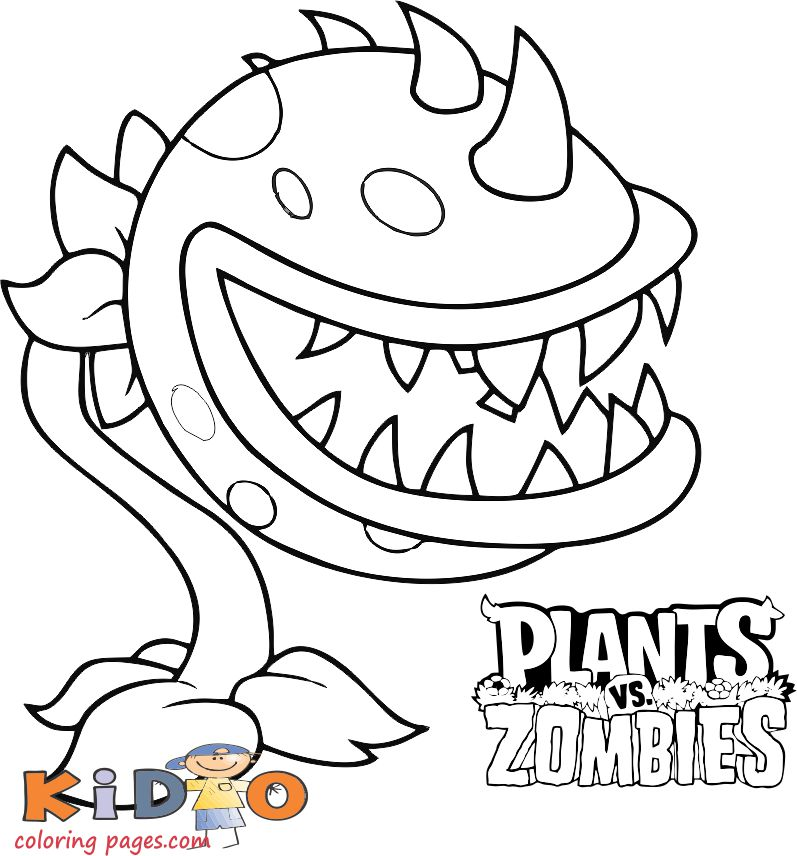 - Plants Vs Zombies Coloring Pages Chomper - Kids Coloring Pages