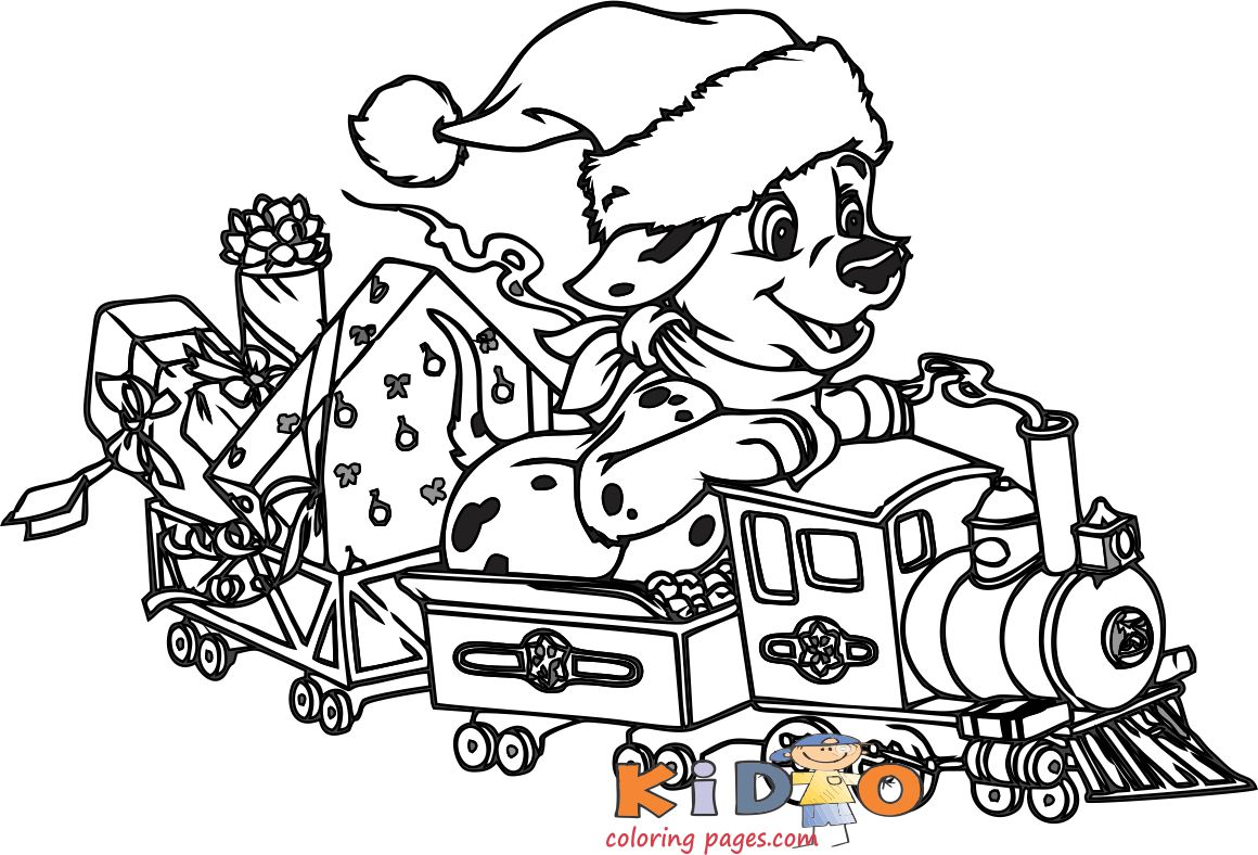 101 Dalmatians Lucky coloring pages for kids