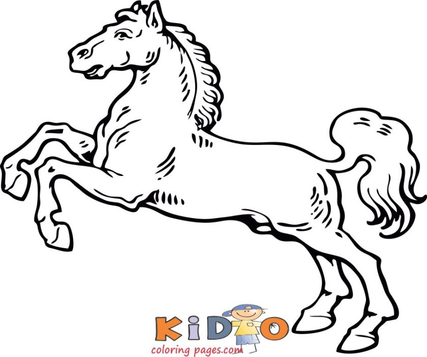 Horse running coloring pages to print out