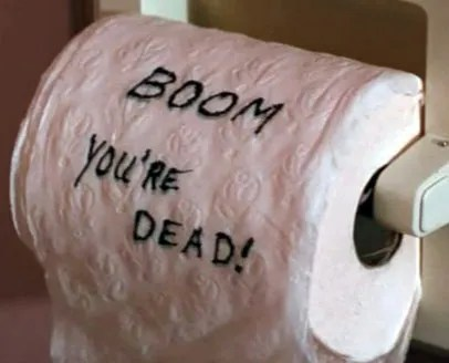 Bomb on the toilet? Adds more stress to a pre-resus 'battle crap'