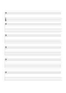 6弦ベース用Tab&ヘ音_小節線なし