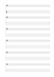 5弦ベース用Tab&ヘ音_小節線なし