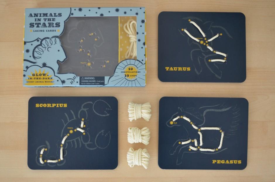 Znalezione obrazy dla zapytania animals in the stars lacing cards
