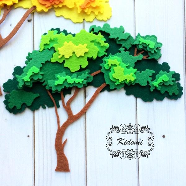 """Готовая вырубка из фетра """"Дерево №2"""" дерево 4 от Kidomi"""