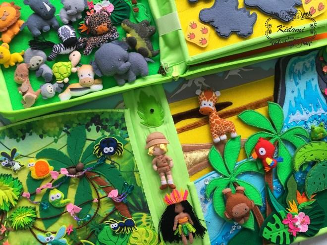"""Игровой планшет """"Животные теплых стран"""" Kidomi"""