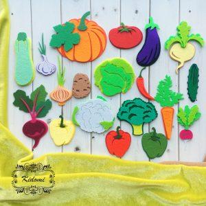 "Вырубка из фетра ""Овощи"" от Kidomi"