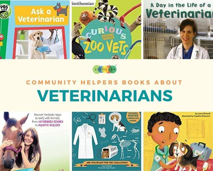 Veterinarian Community helper books for kids