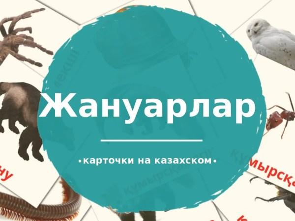 134 бесплатных карточек Животные для детей на Казахском ...